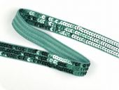 Sequin ribbon, turquoise, 20mm