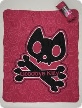 Fleece blanket, Goodbye Kitty, 125x150cm
