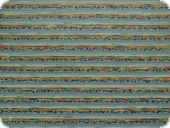 Heavy duty upholstery fabric, stripes, blue