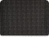 High quality  upholstery fabric, checked pattern, black-grey