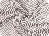 High quality  upholstery fabric, spirals, black-white, 140cm