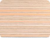 Chenille upholstery fabric, stripes, beige-ecru-orange 140cm