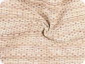 Chenille upholstery fabric, stripes, beige-brown width 140cm
