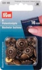 Bachelor buttons with pointed nail, 8 pcs, Rustproof, 16mm