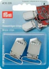 Brace clips, steel, rust protected for sewing on, 25mm