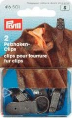 Fur clips, brown, 2 pieces