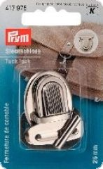 Tuck lock, silver-coloured, 2,6 x 3,5cm