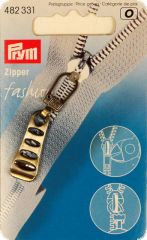 Zip puller, old brass