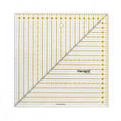 Patchwork ruler square 20 x 20 cm, with ruler handbook