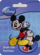 Embroidered motif Mickey & Minnie, assorted, for ironing o