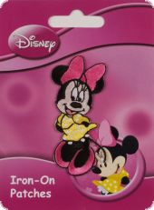 Embroidered motif Mickey & Minnie, assorted, for ironing on