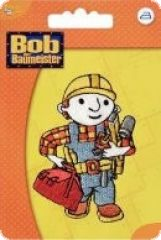 Embroidered motif, Bob the builder, for ironing on