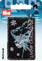 Embroidered motif, Snow Challenge, for ironing on