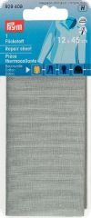 Repair sheet, for ironing on, 30 x 10 cm, light grey