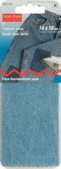 Repair sheet, denim, for ironing on, 14 x 18 cm, light blue
