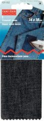 Repair sheet, denim, for ironing on, 14 x 18 cm, black