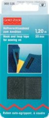 Hook and loop tape, for sewing on, 20mm, L:120cm, black