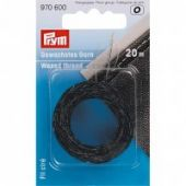 Waxed Thread, black, 20m