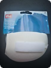 Shoulder pads with hook and loop fastening, S, raglan, white