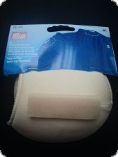 Shoulder pads with hook and loop fastening, S, raglan, flesh