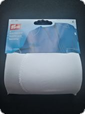 Shoulder pads without hook and loop fastening, S, white