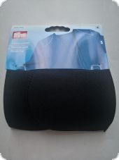 Shoulder pads without hook and loop fastening, S, black