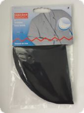Dress shields, L, 2pcs., black