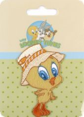 Embroidered motif Looney Tunes, Tweety with hat