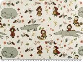 Deco fabric for children, digital print, Red Riding Hood