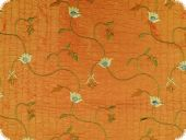 Valuable embroidered silk fabric, taffeta, 130cm