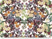 Fine silk blend, flowers, ecru-multicolour, 138cm