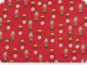 Chiffonlike silk blend, dots, red, 138cm