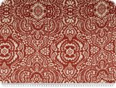 Silk fabric, pure silk, ornaments, red brown-ecru, 140cm