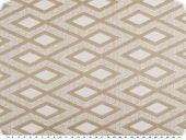 Decorative jacquard fabric, rhombs, beige,140cm