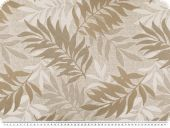 Decorative jacquard fabric, leaves, beige, 140cm