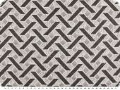 Jacquard fabric, geometric pattern, grey, 140cm