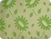 Cotton blended fabric, flower-print,green,ca.125 cm