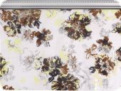 Cotton fabric, flowers, multicolour, 147cm