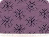 Cotton quilt, double-sided, violet and blue, 150cm