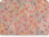 Jacquard double fabric, curls, pink, 160cm
