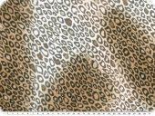 Satinlike polyester fabric, fur pattern, 150cm