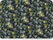 Valuable polyester fabric, flowers, multicolour, 147cm