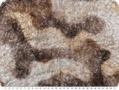 Foilprint on knittware, brown-silver, 135cm