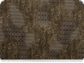 Elastic cotton printed , grid- fur pattern, brown, 145cm