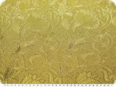 Jacquard with lurex, flowers, gold, 135cm