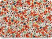 Fresh flower fabric, blend fabric, multicolour, 137cm