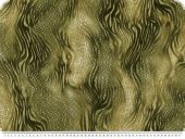 Fashionable satin, waves, olive-multicolour, 145cm