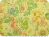 Fresh cotton fabric, voile, flowers, multicolour, 150cm