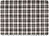 nice shirting, cotton, checked, antracite-white, 149cm