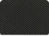 Nice fabric with glitter dots, black-silver, 150cm